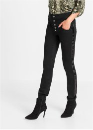 Highwaist- Stretch-Hose mit Pailletten, RAINBOW