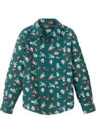 Langarmhemd mit Weihnachtsmotiv, Slim Fit, bpc bonprix collection