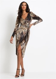 Samt Leo Midikleid, BODYFLIRT boutique