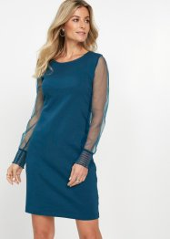 Shirtkleid mit Mesh-Ärmeln, bpc selection