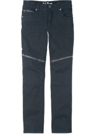 Stretch-Twillhose im Bikerstil, Slim Fit, John Baner JEANSWEAR