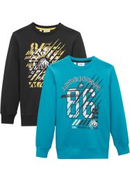 Jungen Sweatshirt (2er-Pack), bpc bonprix collection