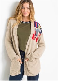 Oversize-Strickjacke mit Stickerei, RAINBOW