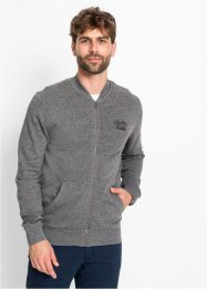 Sweatjacke mit Baseballkragen, bpc bonprix collection
