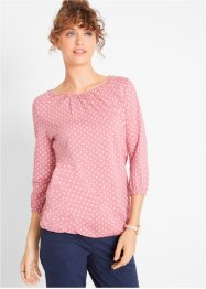 Shirt mit U-Boot-Ausschnitt, 3/4-Arm, bpc bonprix collection