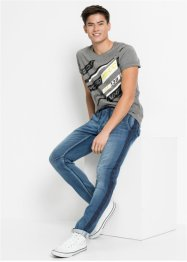 Regular Fit Sweat-Jeans, Tapered, RAINBOW