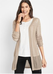 Ajour-Strickjacke, Langarm, bpc bonprix collection