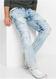 Slim Fit Biker Stretch-Jeans, Straight, RAINBOW