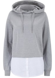 Sweatshirt mit Webeinsatz, bpc bonprix collection