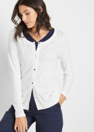 Shirtjacke mit Ajourmuster, bpc bonprix collection