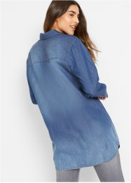 Jeansbluse, extralang geschnitten, John Baner JEANSWEAR