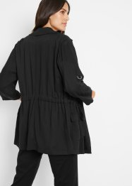 Viskose Blusenjacke mit Revers, bpc bonprix collection