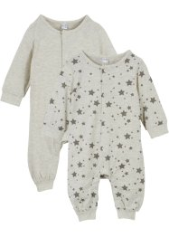 Baby Strampler  (2er-Pack)  Bio-Baumwolle, bpc bonprix collection