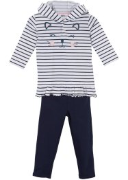 Baby Kapuzenshirt + Leggings (2-tlg.) Bio-Baumwolle, bpc bonprix collection