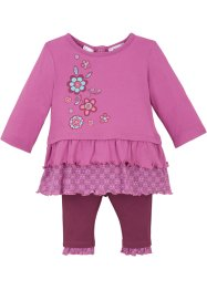Baby Shirt + Leggings (2-tlg.) Bio-Baumwolle, bpc bonprix collection