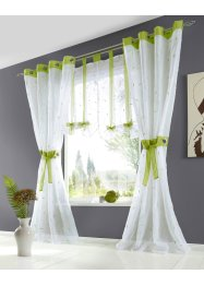 Bestickte Gardine mit Raffhalter (1er Pack), bpc living bonprix collection
