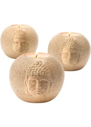 Kerzenhalter Buddha (3-tlg. Set), bpc living bonprix collection
