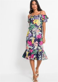 Cold-Shoulder-Kleid mit Volants, BODYFLIRT