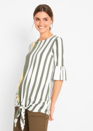 Shirt mit Knotendetail, kurzarm, bpc bonprix collection