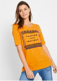 Shirt mit Frontprint, kurzarm, bpc bonprix collection