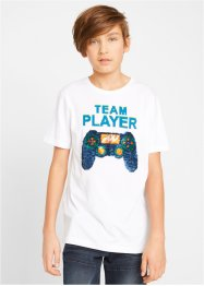 T-Shirt mit Wendepailletten, bpc bonprix collection