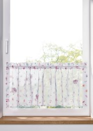 Digital bedruckte Scheibengardine mit 3D Blumen, bpc living bonprix collection