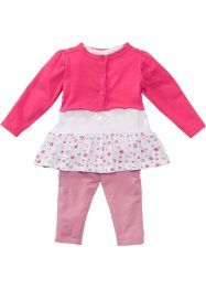 Baby Bolero + T-Shirt + Leggings (3-tlg.) Bio-Baumwolle, bpc bonprix collection