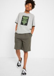 Jungen T-Shirt und Sweat-Bermuda (2-tlg.Set), bpc bonprix collection