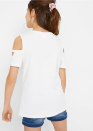 Mädchen Cold-Shoulder-Shirt aus Bio-Baumwolle, bpc bonprix collection