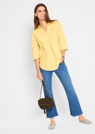 Leinen-Oversize-Bluse mit Kragen, bpc bonprix collection