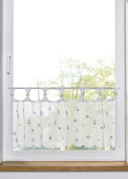 Scheibengardine mit gestickten Blumen, bpc living bonprix collection