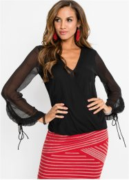 Chiffon-Wickelbluse, BODYFLIRT boutique