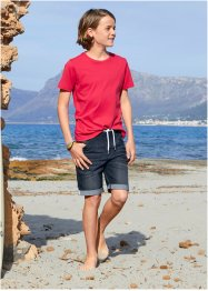 Jungen Basic T-Shirt (3er-Pack) Bio-Baumwolle, bpc bonprix collection