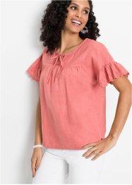 Bluse Tunika Oversize Italy Hemd Shirt Streifen Silber Print 44 46 48 rosa