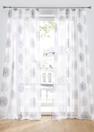Transparente Gardine mit Kreise Druck (1er Pack), bpc living bonprix collection