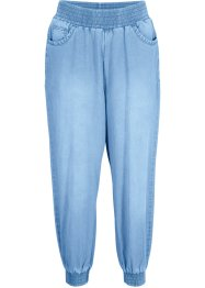 7/8-Baumwoll-Jeans mit Bequembund, Loose-Fit, bpc bonprix collection