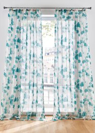 Transparente Gardine mit Blumen Druck (1er Pack), bpc living bonprix collection