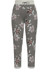 Florale Sweathose aus einem Stretch-Material, 7/8-Länge, bpc bonprix collection