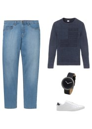 Classic Fit Stretch-Jeans, Tapered, John Baner JEANSWEAR