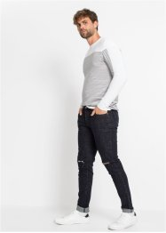 Skinny Fit Stretch-Jeans, Straight, RAINBOW