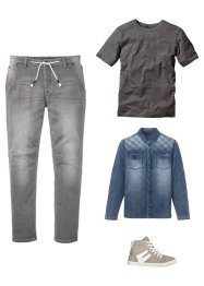 Jeanshemd Slim Fit, langarm, RAINBOW