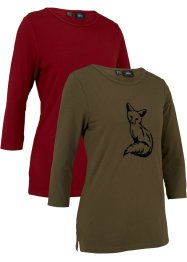 Modernes Shirt, 3/4-Arm, 2er Pack, bpc bonprix collection