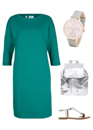 Sweatkleid mit U-Boot-Ausschnitt, bpc bonprix collection