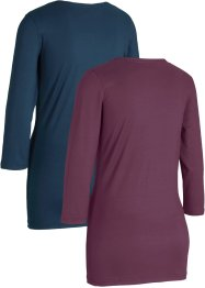 Sport-Shirt, 2er-Pack, 3/4-Arm, bpc bonprix collection