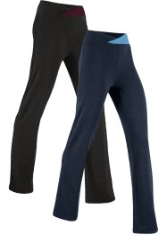 Stretch-Sporthose, 2-er Pack, lang, Level 1, bpc bonprix collection