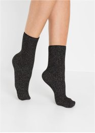 Thermo Socken Glitzergarn (4er Pack), bpc bonprix collection