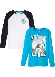 Jungen Langarmshirt, (2er-Pack), bpc bonprix collection