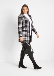 Longstrickjacke, kariert, bpc bonprix collection