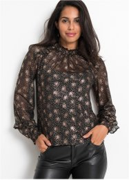 Mesh-Shirt, Folienprint, BODYFLIRT