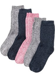 Thermo Frottee Socken (5er Pack) Bio-Baumwolle, bpc bonprix collection